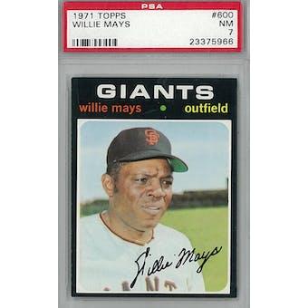 1971 Topps Baseball #600 Willie Mays PSA 7 (NM) *5966 (Reed Buy)