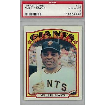 1972 Topps Baseball #49 Willie Mays PSA 8 (NM-MT) *7774 (Reed Buy)