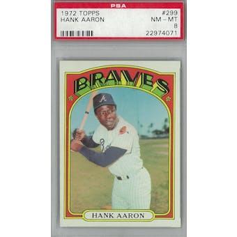 1972 Topps Baseball #299 Hank Aaron PSA 8 (NM-MT) *4071 (Reed Buy)