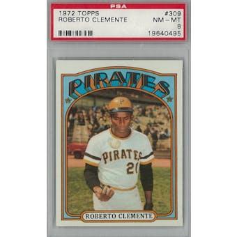 1972 Topps Baseball #309 Roberto Clemente PSA 8 (NM-MT) *0495 (Reed Buy)