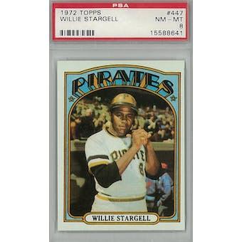 1972 Topps Baseball #447 Willie Stargell PSA 8 (NM-MT) *8641 (Reed Buy)