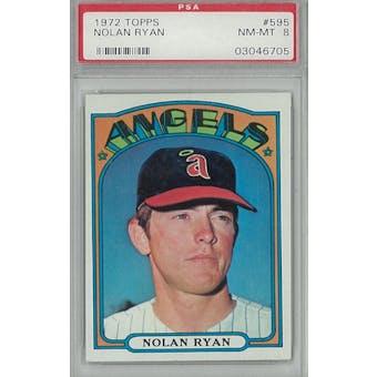 1972 Topps Baseball #595 Nolan Ryan PSA 8 (NM-MT) *6705 (Reed Buy)