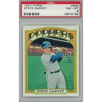 1972 Topps Baseball #686 Steve Garvey PSA 8 (NM-MT) *6188 (Reed Buy)