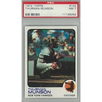 1973 Topps Baseball #142 Thurman Munson PSA 7 (NM) *6262 (Reed Buy)