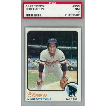 1973 Topps Baseball #330 Rod Carew PSA 7 (NM) *9582 (Reed Buy)