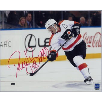 Daniel Briere Autographed Philadelphia Flyers 8x10 White Photo  (DACW COA)
