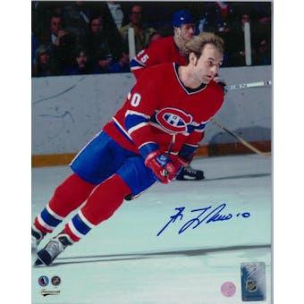 Guy Lafleur Autographed Montreal Canadians 8x10 Photo (Frameworth COA)