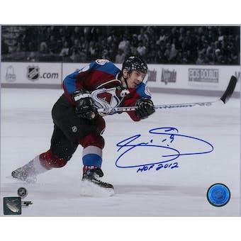 Joe Sakic Autographed Colorado Avalanche 8x10 Maroon Photo (Hockey Ink COA)