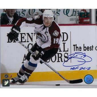 Joe Sakic Autographed Colorado Avalanche 8x10 White Photo (Hockey Ink COA)