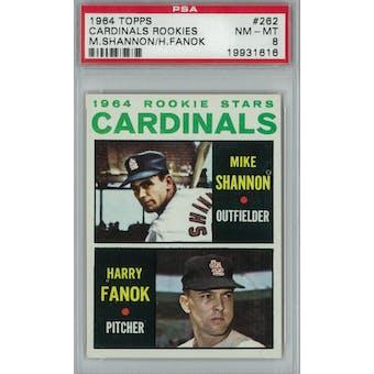 1964 Topps Baseball #262 Cardinals Rookies PSA 8 (NM-MT) *1616 (Reed Buy)