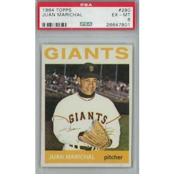 1964 Topps Baseball #280 Juan Marichal PSA 6 (EX-MT) *7801 (Reed Buy)