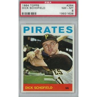 1964 Topps Baseball #284 Dick Schofield PSA 8 (NM-MT) *1638 (Reed Buy)
