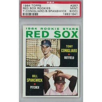 1964 Topps Baseball #287 Tony Conigliaro RC PSA 9OC (Mint) *1641 (Reed Buy)