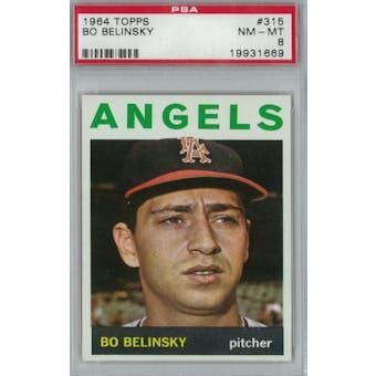 1964 Topps Baseball #315 Bo Belinsky PSA 8 (NM-MT) *1669 (Reed Buy)