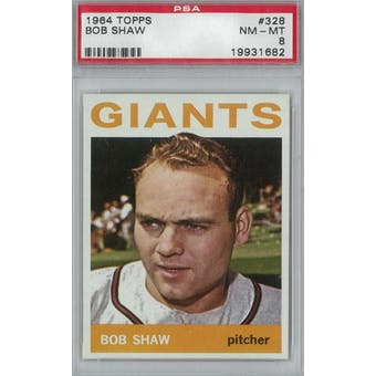 1964 Topps Baseball #328 Bob Shaw PSA 8 (NM-MT) *1682 (Reed Buy)