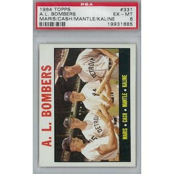 1964 Topps Baseball  #331 AL Bombers PSA 6 (EX-MT) *1685 (Reed Buy)