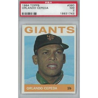 1964 Topps Baseball #390 Orlando Cepeda PSA 7 (NM) *1743 (Reed Buy)