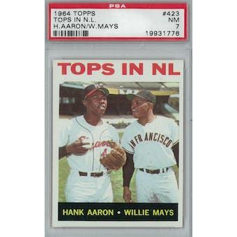 1964 Topps Baseball #423 Tops in NL PSA 7 (NM) *1776 (Reed Buy)