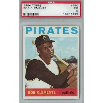 1964 Topps Baseball #440 Roberto Clemente PSA 5 (EX) *1793 (Reed Buy)