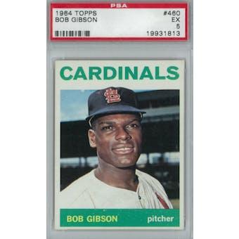1964 Topps Baseball #460 Bob Gibson PSA 5 (EX) *1813 (Reed Buy)
