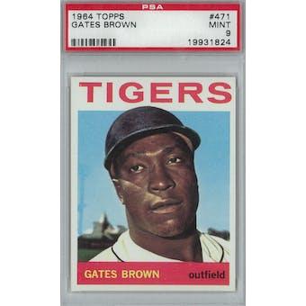 1964 Topps Baseball #471 Gates Brown PSA 9 (Mint) *1824 (Reed Buy)
