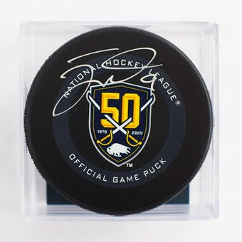 Jack Eichel Autographed #9 Buffalo Sabres Anniversary Game Hockey Puck