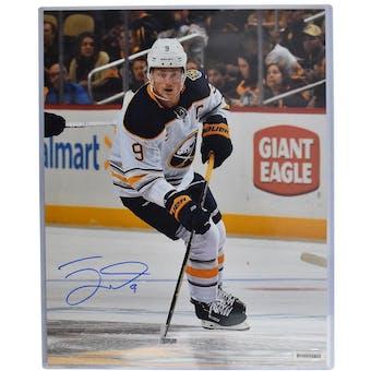 Jack Eichel Autographed #9 Buffalo Sabres 16x20 White Jersey Photo