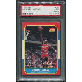 1986/87 Fleer Basketball #57 Michael Jordan Rookie PSA 9 (MINT) (OC)