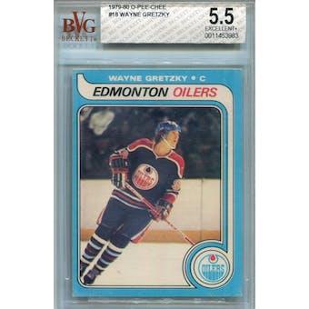 1979/80 O-Pee-Chee #18 Wayne Gretzky BVG 5.5 (EX+) *3983 (Reed Buy)