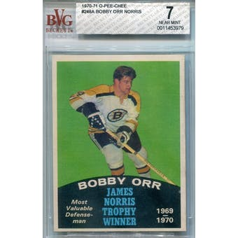 1970/71 O-Pee-Chee #248A Bobby Orr Norris BVG 7 (Near Mint) *3979 (Reed Buy)