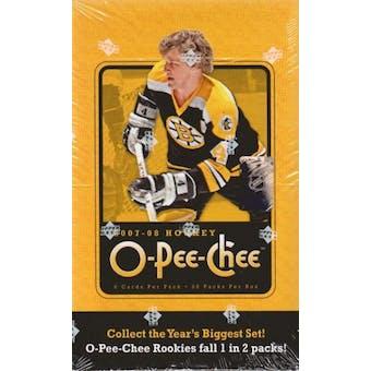 2007/08 Upper Deck O-Pee-Chee Hockey Hobby Box