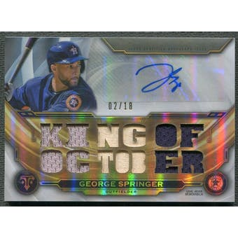 2019 Topps Triple Threads #TTARGS2 George Springer Jersey Auto #02/18