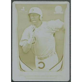 2014 Bowman Chrome Draft #CTP33 Eloy Jimenez Top Prospects Rookie Yellow Printing Plate #1/1