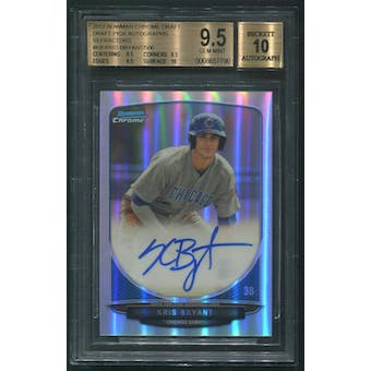 2013 Bowman Chrome Draft #KB Kris Bryant Rookie Refractor Auto #376/500 BGS 9.5 (GEM MINT)