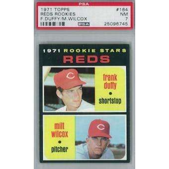 1971 Topps Baseball  #164 Reds Rookies PSA 7 (NM) *6745 (Reed Buy)