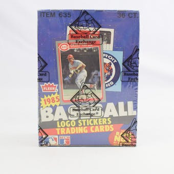 1985 Fleer Baseball Wax Box (BBCE) (Reed Buy)