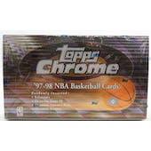1997/98 Topps Chrome Basketball Hobby Box (Reed Buy)