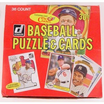 1982 Donruss Baseball Wax Box (Reed Buy)