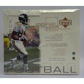 2000 Upper Deck Pros & Prospects Football Hobby Box (Reed Buy)