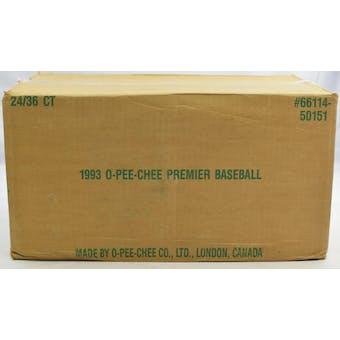 1993 O-Pee-Chee Premier Baseball Wax 24-Box Case (Reed Buy)
