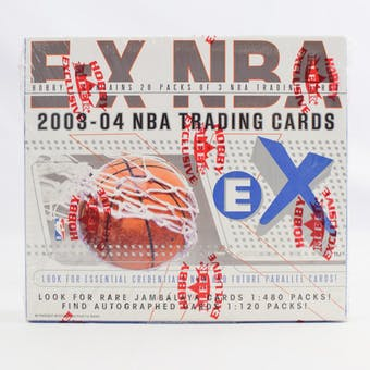 2003/04 Fleer Skybox E-X Basketball Hobby Box (Reed Buy)