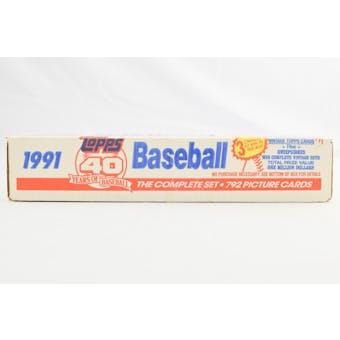 1991 Topps Baseball Factory Set (White Box) (Reed Buy)
