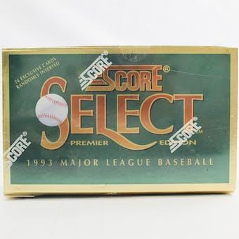 1993 Score Select Baseball Hobby Box (Reed Buy)