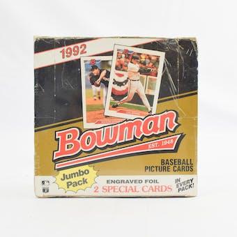 1992 Bowman Baseball 36 Pack Jumbo Box (Reed Buy)
