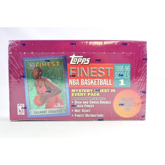 1995/96 Topps Finest Series 1 Basketball Hobby Box (Reed Buy)