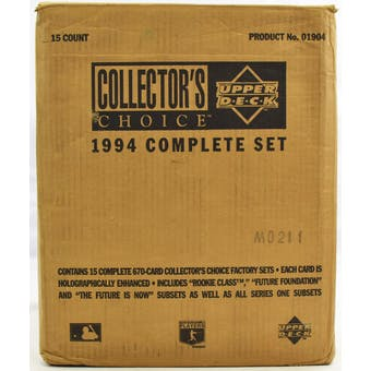 1994 Upper Deck Collector's Choice Baseball Factory Set Case (15 Sets) (Reed Buy)