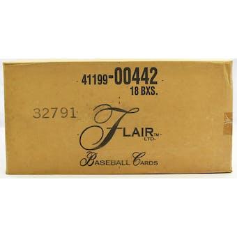 1993 Fleer Flair Baseball Hobby 18-Box Case (Reed Buy)