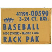 1989 Fleer Baseball Rack 3-Box Case (Reed Buy)