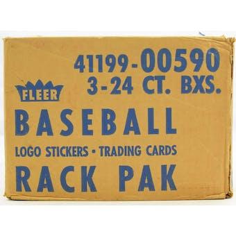 1989 Fleer Baseball Rack 3-Box Case (Reed Buy)