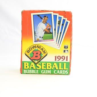 1991 Bowman Baseball Wax Box (Reed Buy)